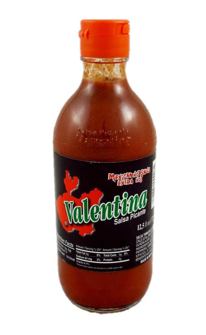 Valentina Extra Hot Sauce available online at PepperExplosion.com.  Pepper Explosion has the largest selection of hot sauces.