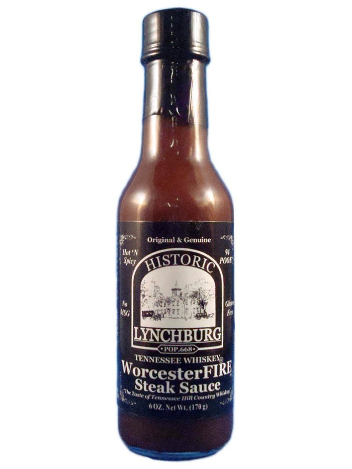 Lynchburg Tennessee Whiskey WorcesterFIRE Steak Sauce Pepper Explosion