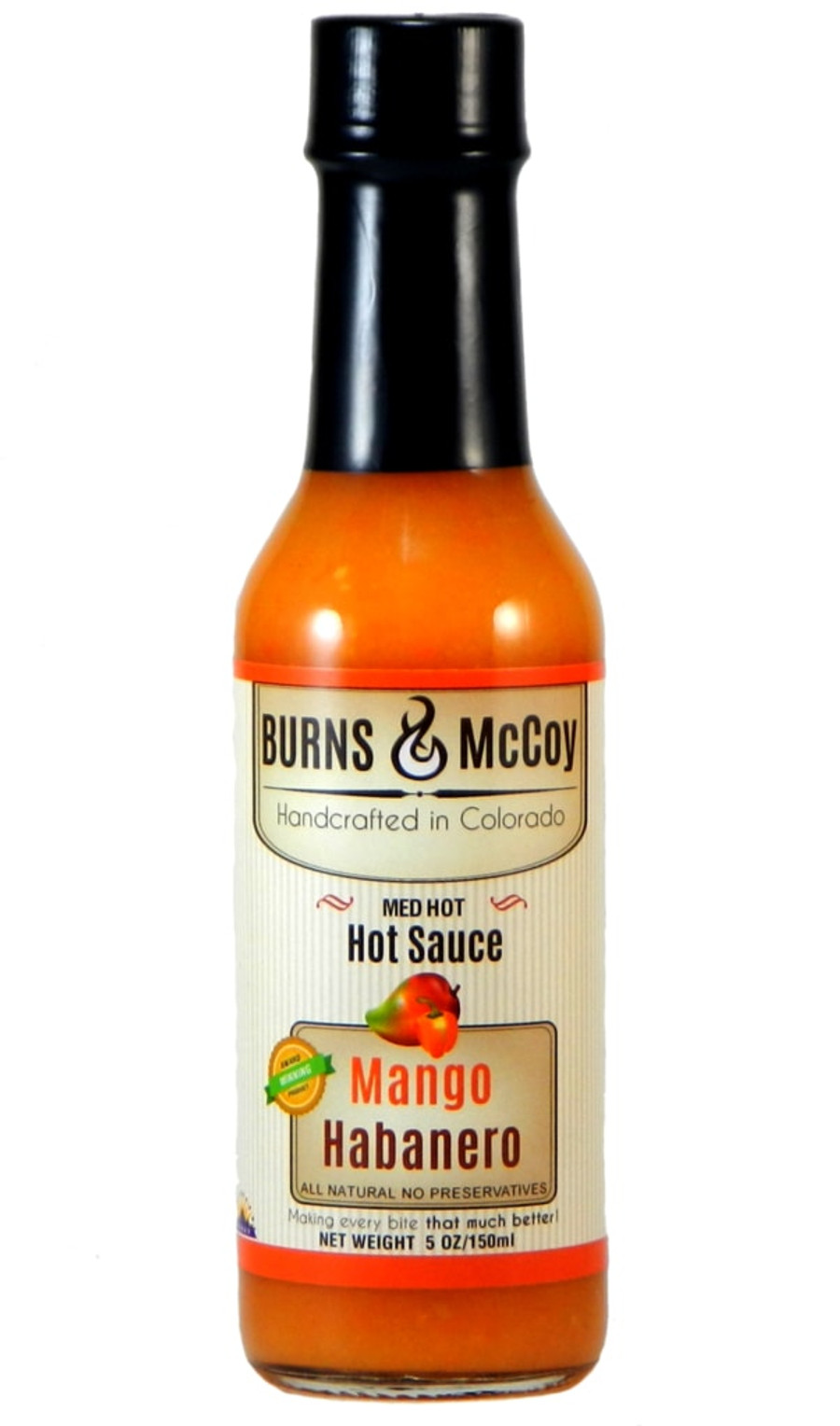 Burns & McCoy Mango Habanero sold online at PepperExplosion.com