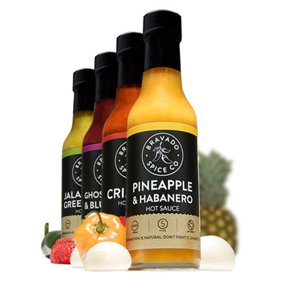 Bravado Spice Co. Hot Sauce Collection now available at Pepper Explosion