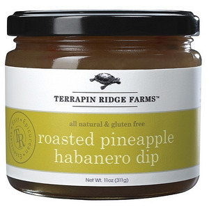 Roasted Pineapple Habañero Dip available at PepperExplosion.com your source for hot and spicy foods
