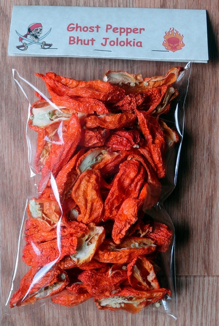 ... Peppers Dried Ghost Pepper (Bhut Jolokia) Pepper - Grown in the USA