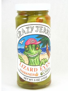 Crazy Jerrys Lizard Eyes Habanero Stuffed Olives