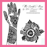 Free Bridal Henna Design Sample - Elegant, modern, trendy mehndi designs - The Bride's Rose by Alia Mansoor Khan