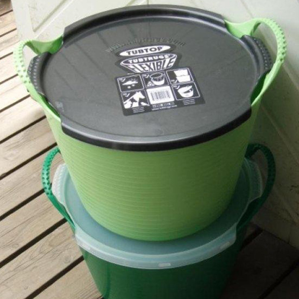Tubtrugs Lids turn your Tubtrugs into stackable storage.