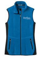 RiverTown Multimedia Ladies Full Zip Fleece Vest