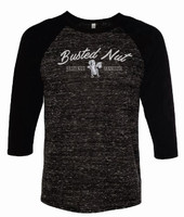 Busted Nut 3/4 Sleeve Baseball Tee with Black Sleeves