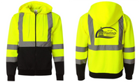 City of Hastings  Kishigo High Vis Hooded Full Zip Sweatshirt
