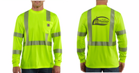 City of Hastings  Carhartt High Vis Long Sleeve Tee