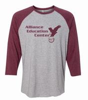 Alliance Education Center Jersey  3/4 Sleeve Baseball Tee