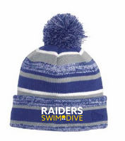 HHS Swim & Dive Fleece Lined Knot Pom Hat