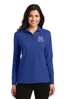 RiverTown Multimedia Ladies Long Sleeve Silk Touch Polo