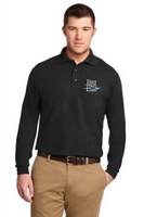 RiverTown Multimedia Long Sleeve Silk Touch Polo