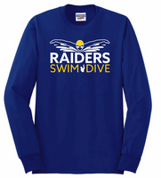 HHS Swim & Dive Long Sleeve Cotton/Poly Blend Tee