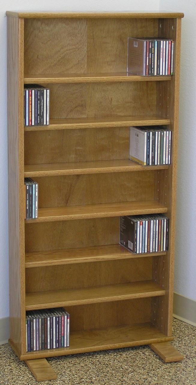 Dvd Storage Cabinet 48 H Shown In Light Brown
