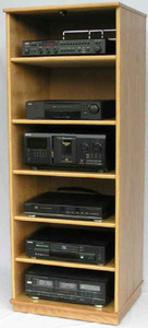 "Entertainment center 60""H with 5 adjustable shelves."