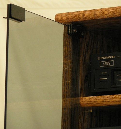 """Modern ponent Stereo Cabinet with Glass Doors 53"""" High"""