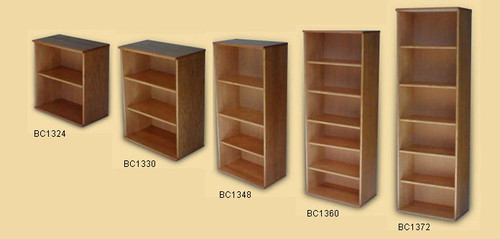 Oak Finish Bookcases 24 H To 72 With Adjule Shelves