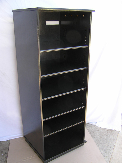 """audio cabinet with glass doors 27""""-73"""" high oak maple usa made"""