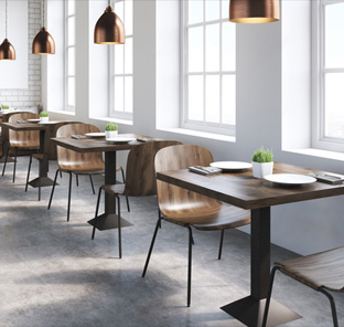 Restaurant & Bistro seating