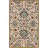 Amanda Ivory Wool  Area Rug - 3 Feet 6 Inches x 5 Feet 6 Inches