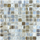 1 Inchx1 Inch Smoked Oyster Glass Mosaics