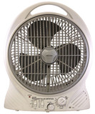 Rechargeable Portable Fan with Built-In AM/FM Radio and Auxiliary Audio Input