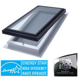 Venting Manual Self Flashing Double Glazed LoE3 i89 Glass Skylight - 2 Feet x 4 Feet - Black Frame