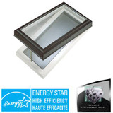 Venting Manual Curb Mount Double Glazed LoE3 i89 Glass Skylight - 2 Feet x 4 Feet - Black Frame