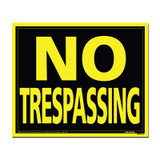 19 X 24 Jumbo Sign - No Trespassing