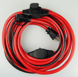25 Feet 14/3 Inline 3-Outlet Extension Cord