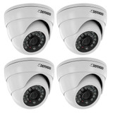 Defender Pro 4 Pack 800TVL Ultra High Resolution Widescreen Indoor/Outdoor Dome Security Cameras