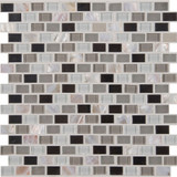 Keshi Blend 12 Inch.  X 12 Inch.  X 8 Mm Glass Metal Mesh-Mounted Mosaic Tile (10 Sq. Feet.  / Case)