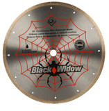 10 Inch Porcelain, Ceramic, Marble and Granite Wet Cutting Black Widow Diamond Blade