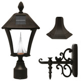 Baytown Black Solar Post-Mount/Wall-Mount LED Outdoor Light Fixture