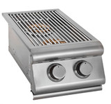 Broilchef Premium  DLX 24,000 BTU Outdoor  Double Built-in Propane Gas Side Burner