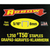 Arrow T50 5/16in Staples - Box of 1000