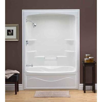 Liberty 60 Inch 1 Piece Acrylic Tub And Shower Combination Whirlpool Jet Air