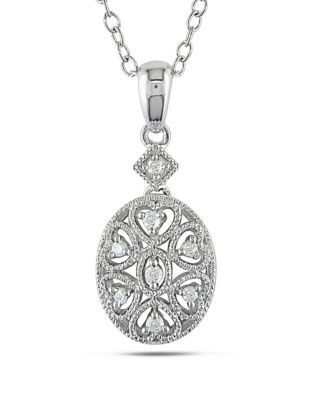 Concerto 0.06TCW Diamond Sterling Silver Necklace - DIAMOND