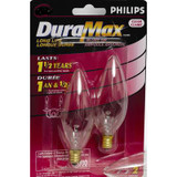 15 W Clear Small Base Chandelier Bulb 2PK