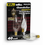 40W Chandelier European Base Clear 2 Pack
