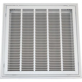 24 in. x 24 in. T-Bar Stamped Hinged Face Return Air Filter Grille
