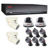 REVO America Commercial Grade Surveillance Bundle 16 Channel 3TB HDD DVR and 10 Cameras