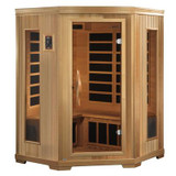 3-Person Far Infrared Sauna with 7 Year Warranty Chromotherapy MP3 Stereo and 2 Speakers