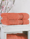 Lauren Ralph Lauren Greenwich Bath Sheet - Papaya - Bath Sheet