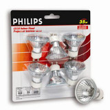 35 Watt Halogen GU10 Flood Bulb - 6 Pack