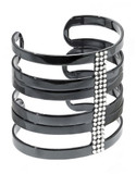 424 Fifth Stacked Crystal Cuff - Black