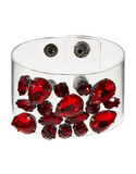 424 Fifth Crystal Cluster Clear Cuff Bracelet - Red