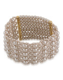 Carolee Champagne Bubbles Stretch Bracelet Gold Tone  Bracelet - Silver