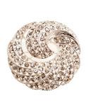 Jones New York Boxed Silver Crystal Swirl Pin - Silver/Crystal